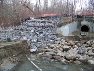 Completed Outfall 101, November 2008