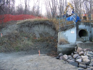 Outfall 101 prior to treatment, October 2008