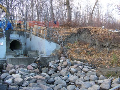 Outfall 101 prior to treatment