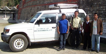 Field visit with Department of Roads Geo-Environmental Unit